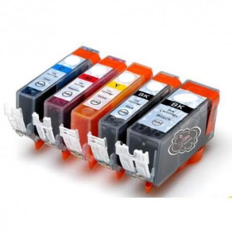 Pack 5 Tinteiro com corante alimentar PGI570 -CL571Canon
