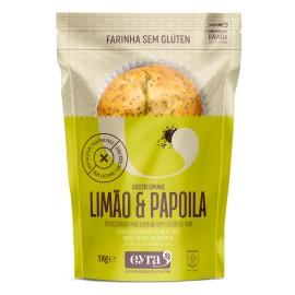 Preparado muffin limão com sementes papoila 1 kg sem gluten e sem lactose
