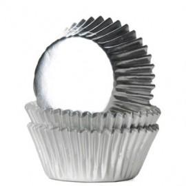 Forma papel nº 2 prata +/- 90 unid. brigadeiro-bombom