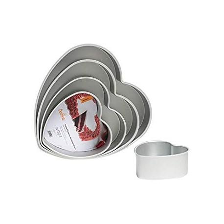 Forma alumínio anodizado coração com 30x7.5 cms Decora