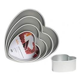 Forma alumínio anodizado coração com 15x7.5 cms Decora