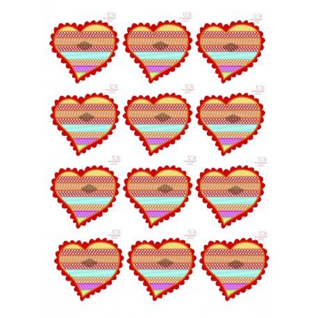 Impressão em hóstia A4 coração para bolachas Namorar Portugal