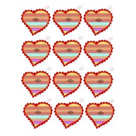 Impressão em lamina açúcar A4 coração para bolachas Namorar Portugal