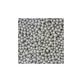 Pérola prata 75 gr. tamanho S decoração