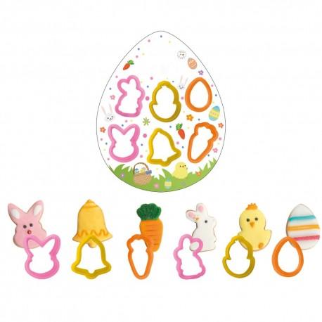 Conj. cortante de ovo e de coelho Páscoa