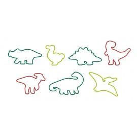 Conj. 7 cortantes bolacha dinossauros Tescoma