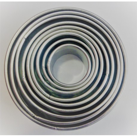 Conj. 9 cortantes lisos de 4 cms a 12 cms