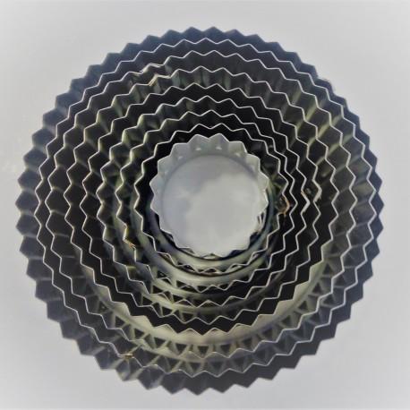Conj. 9 cortantes frizado de 4 cms a 12 cms