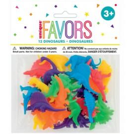 Pack com 12 dinossauros coloridos