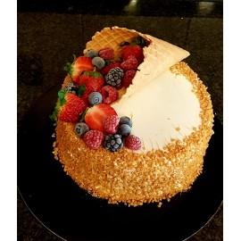 Cone baunilha 140x85 - unid. gelado decoração bolo