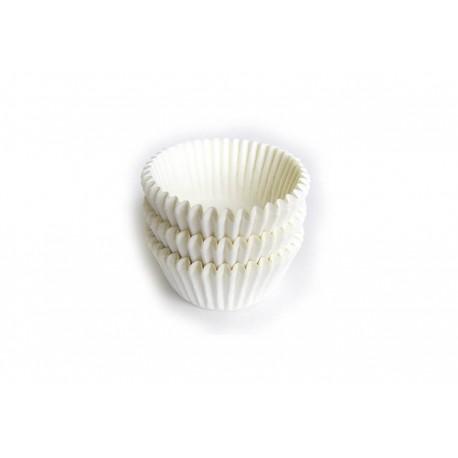 Petifur forma papel branco nº 3 - 100 unid. cupcake e bolinhos de côco 30x21 mm