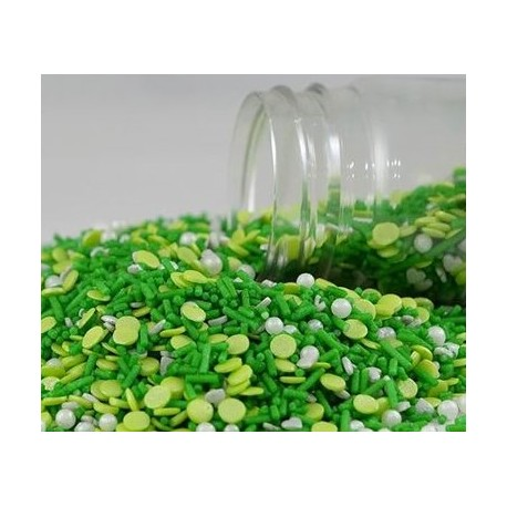 Mix esperança 100 gr. confeti verde