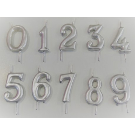 Vela prata nº 5 com 6 cms