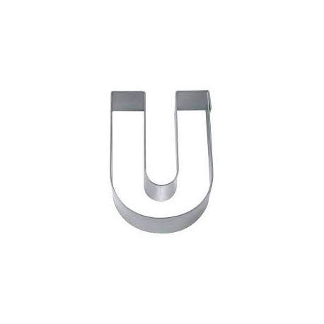 Cortante em metal 6,5 cms letra U
