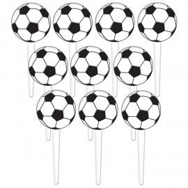 Topo acrílico bola futebol - pack com 36 unid.