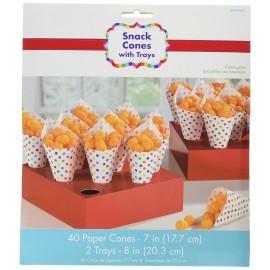 Suporte cartão vermelho cones + cones