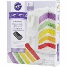Forma anti aderente para bolo arco iris com 15 cms Wilton