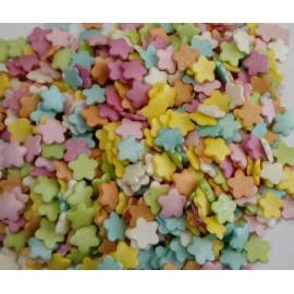 Mix flores coloridas 100 gr. confeti açúcar