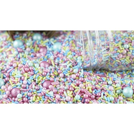 Mix fantasia 100 gr. confeti azul-rosa-verde
