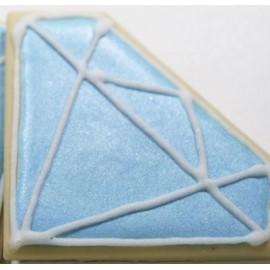 Glacê diamante azul - 70 gr.