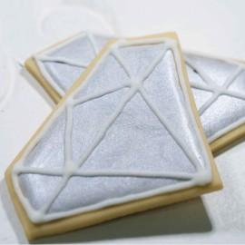 Glacê diamante prata - 70 gr.