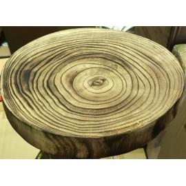 Base - tronco - expositor rustico diâmetro 23 cms alt. 3 cms