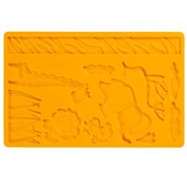 Molde silicone motivo selva-animais da selva Wilton