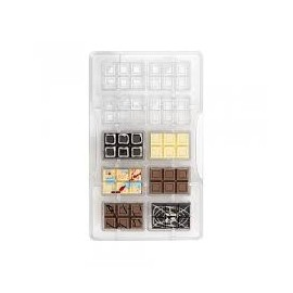 Molde policarbonato mini tablet chocolate - decora
