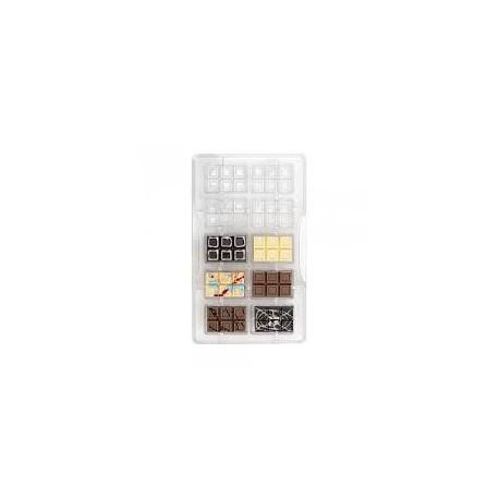Molde policarbonato mini tablet chocolate - decora