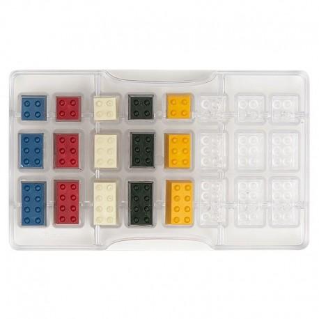 Molde policarbonato lego chocolate - decora