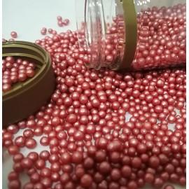 Pérolas cor vermelho S 75 gr.