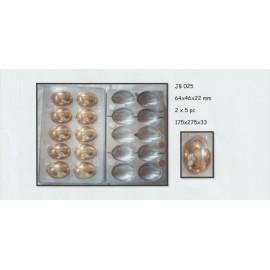 Molde policarbonato bombons 10 cavidades ovos