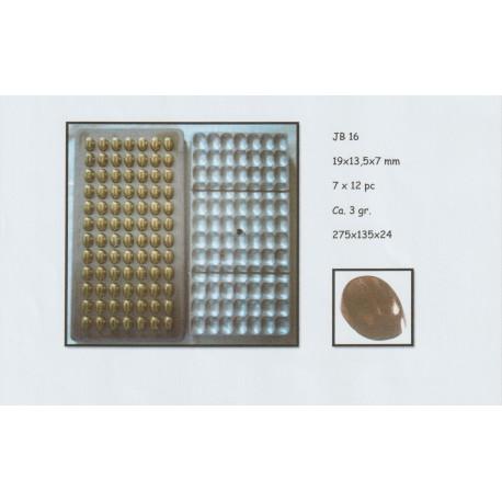 Molde policarbonato para chocolate grãos de café