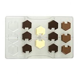 Molde policarbonato bombons hexagono encaixe - decora