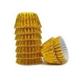 Forma papel nº 2 ouro 1500 unid. brigadeiro-bombom 26*17 mm