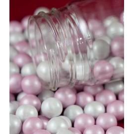 Pérola chocolate rosa-branco 65 gr.