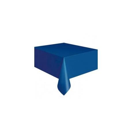 Toalha de mesa azul escuro plástica com 1,37x2,74 Unique