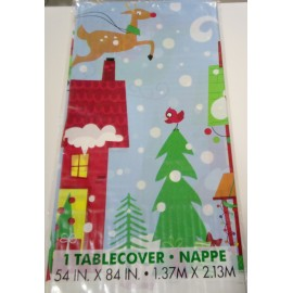 Toalha de mesa plástica motivo Natal com 1,37x2,13 mt Unique