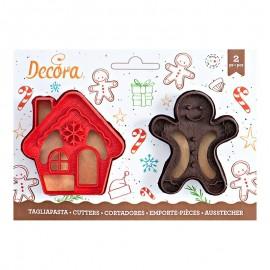 Cortante gengibre + casa decora bolachas Natal
