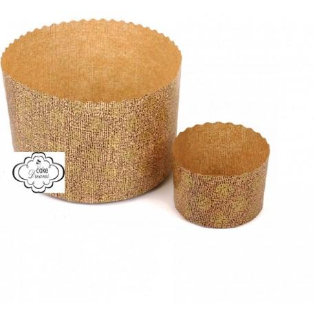 Forma papel para panetone diametro 18 cms alt. 11,5 cm