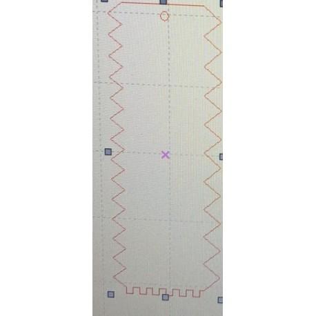 Espátula - pente em acrilico com 21x8 cms - 3 motivos