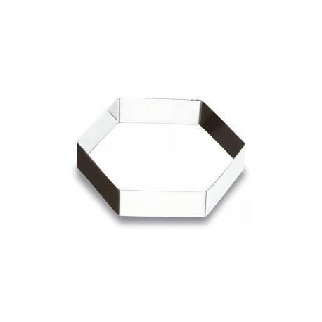 Cortante hexagonal inox 8x2.5 cm