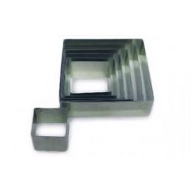 Cortante quadrado inox 4x4x2.5 cm