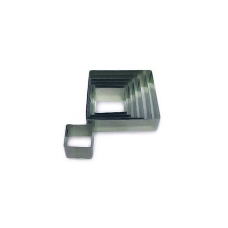 Cortante quadrado inox 6x6x2.5 cm