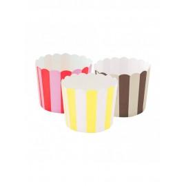 Copo forma molde cupcake 50 unid. - 6x5 cm Cor: castanho