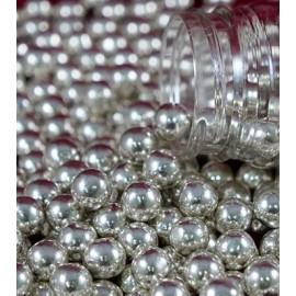 Pérola prata 65 gr. metalizada Chocolate decoração