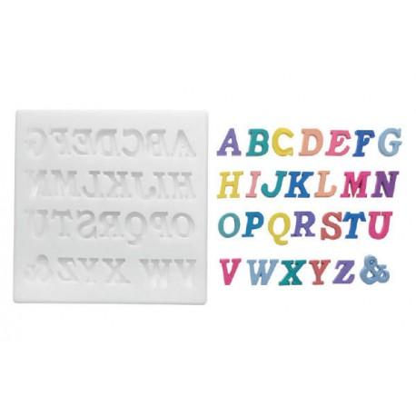 Moldes de silicone alfabeto maiúsculo Silikomart