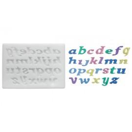 Moldes de silicone alfabeto minúsculo Silikomart