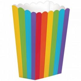 Caixa pipocas arcoiris - 5 unid. amscan