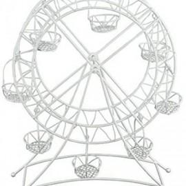 Expositor - Roda Branca de Metal 27x25x35cm para Cupcakes